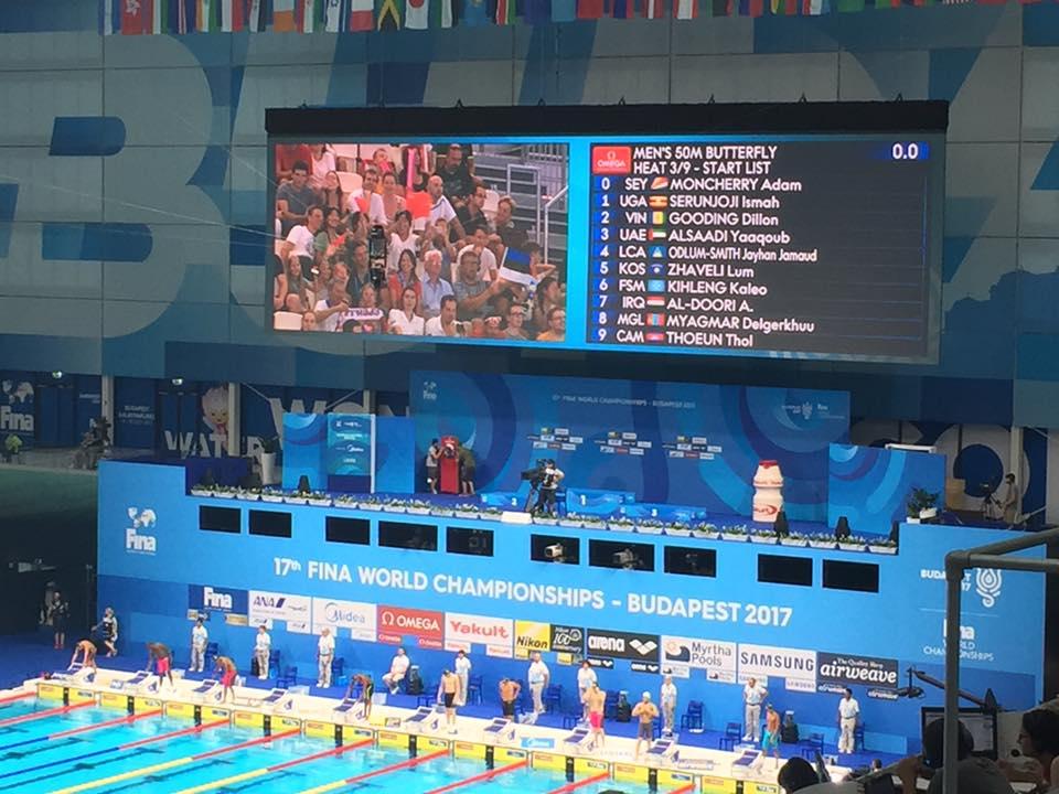 【世界水泳ブダペスト2017】男子50mバタフライでカンボジア人選手が躍動!