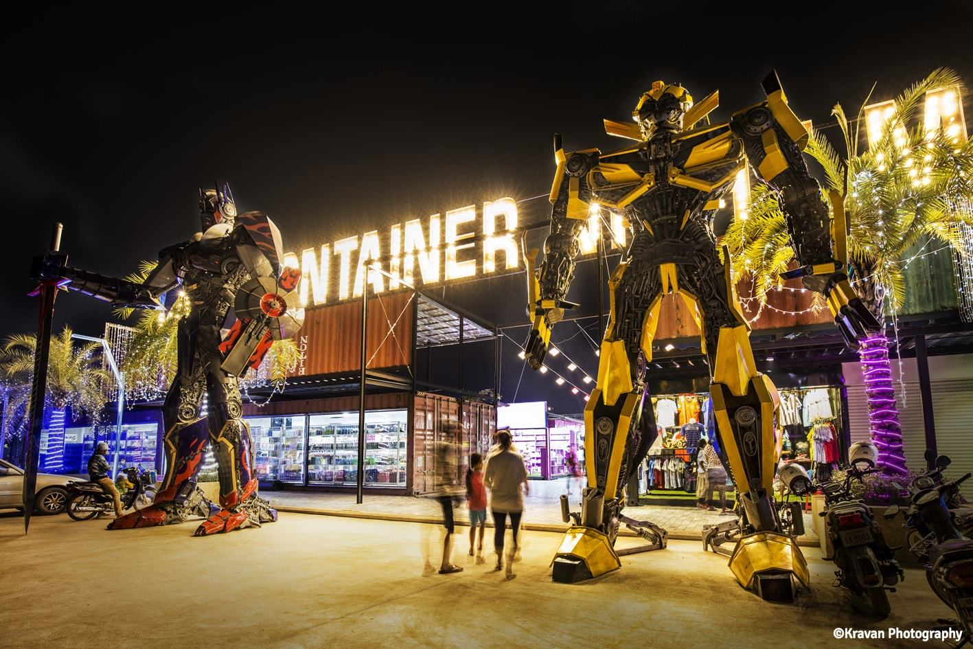 A new tourist hotspot? Container night markets open.