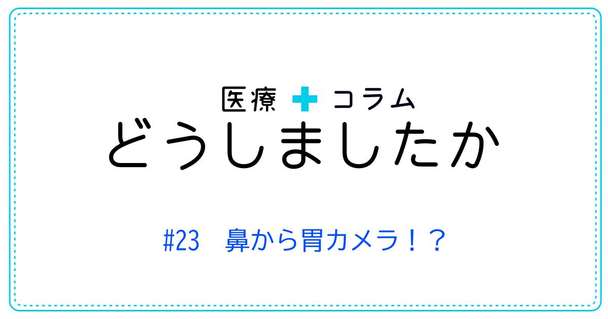 (日本語) どうしましたか #23 鼻から胃カメラ !?