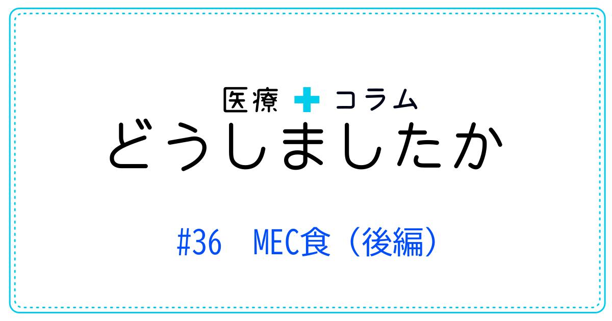 (日本語) どうしましたか #36 MEC食(後編)